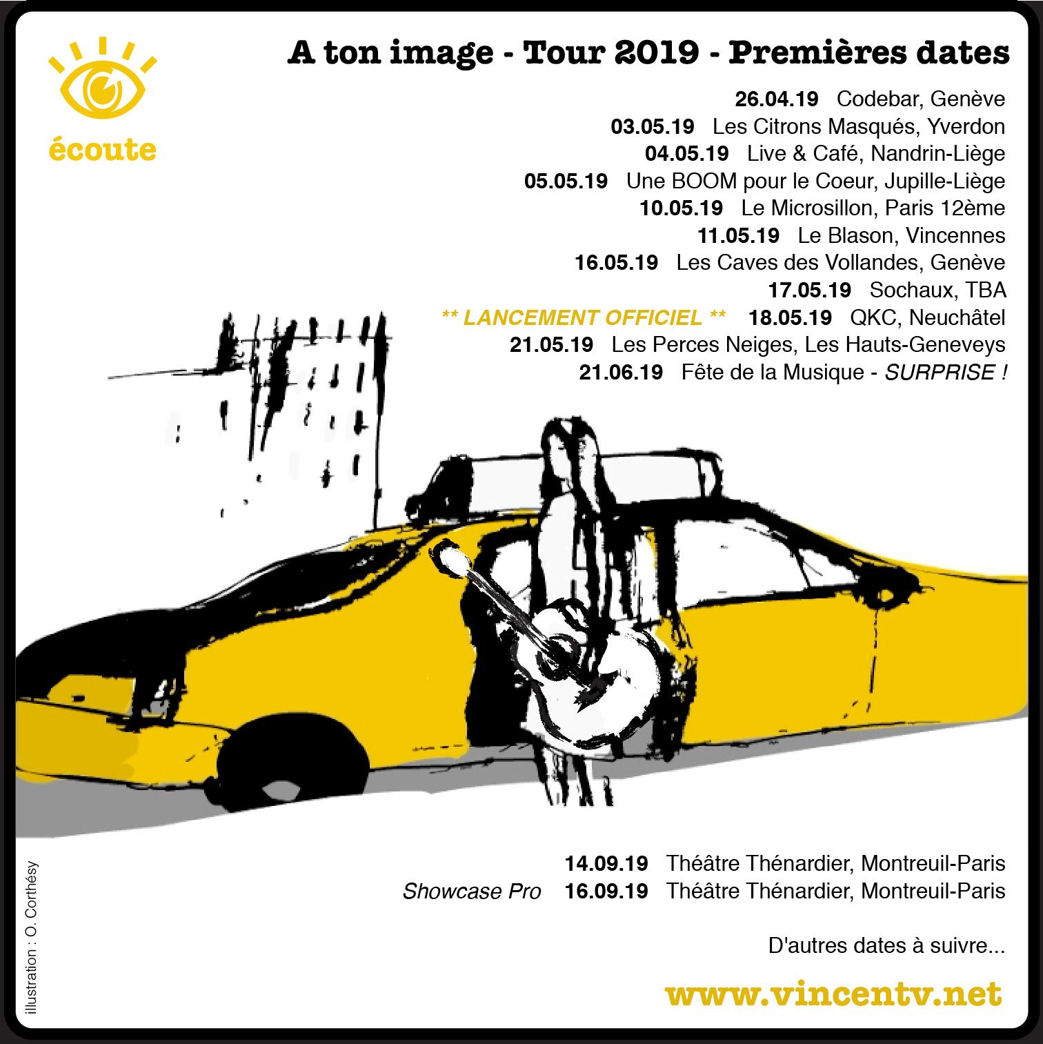 """Dates_Carré Les premières dates du Tour """"A ton image"""""""